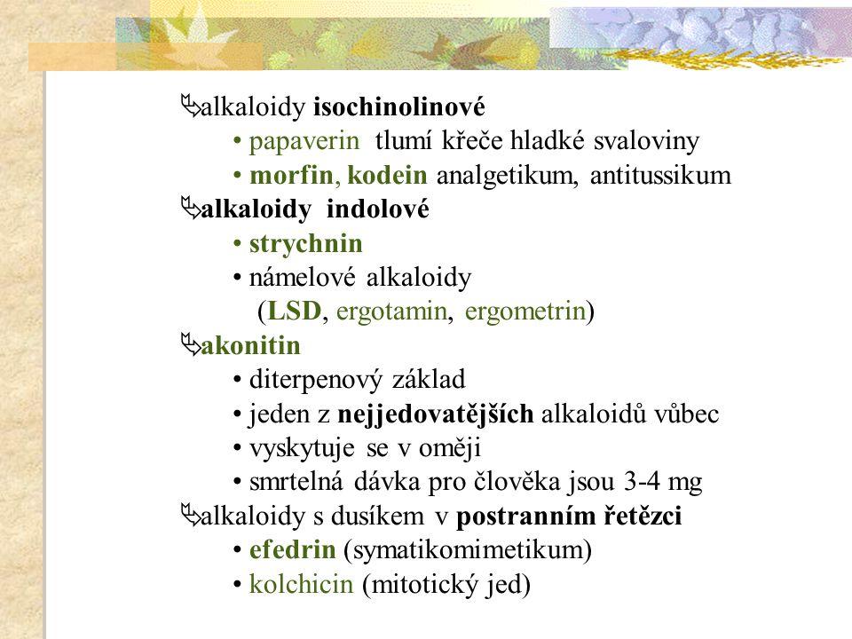 alkaloidy isochinolinové