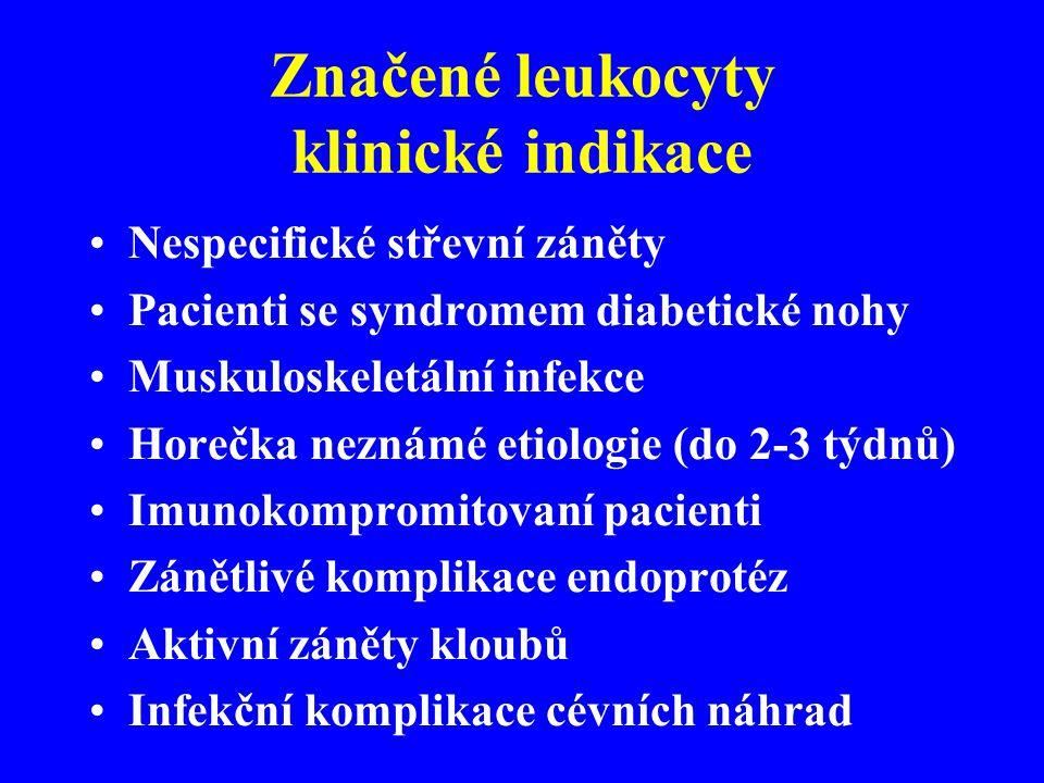 Značené leukocyty klinické indikace