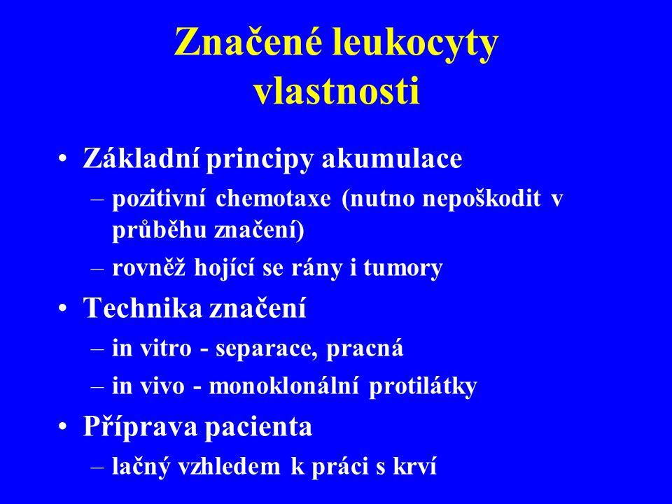 Značené leukocyty vlastnosti