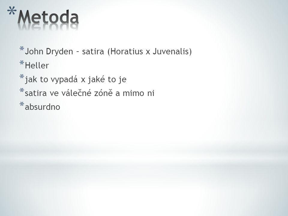 Metoda John Dryden – satira (Horatius x Juvenalis) Heller