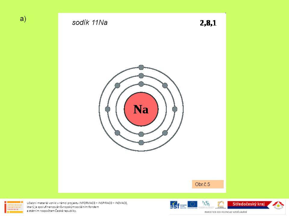 a) Obr.č.5. sodík 11Na.