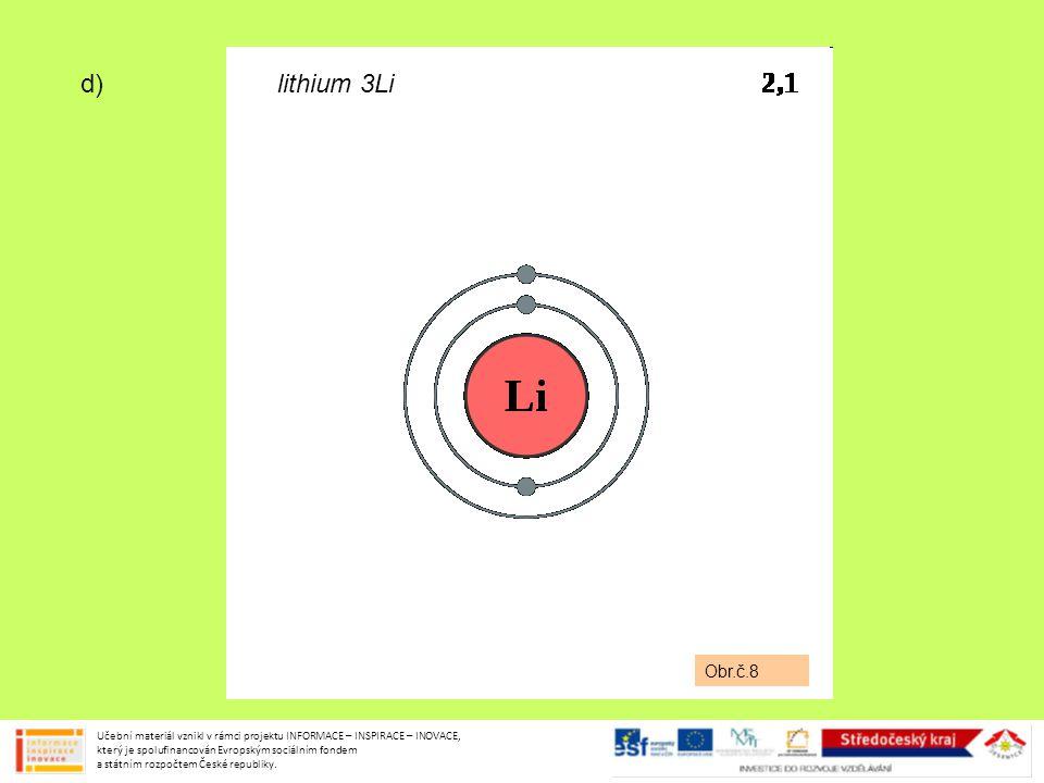 lithium 3Li Obr.č.8. d)