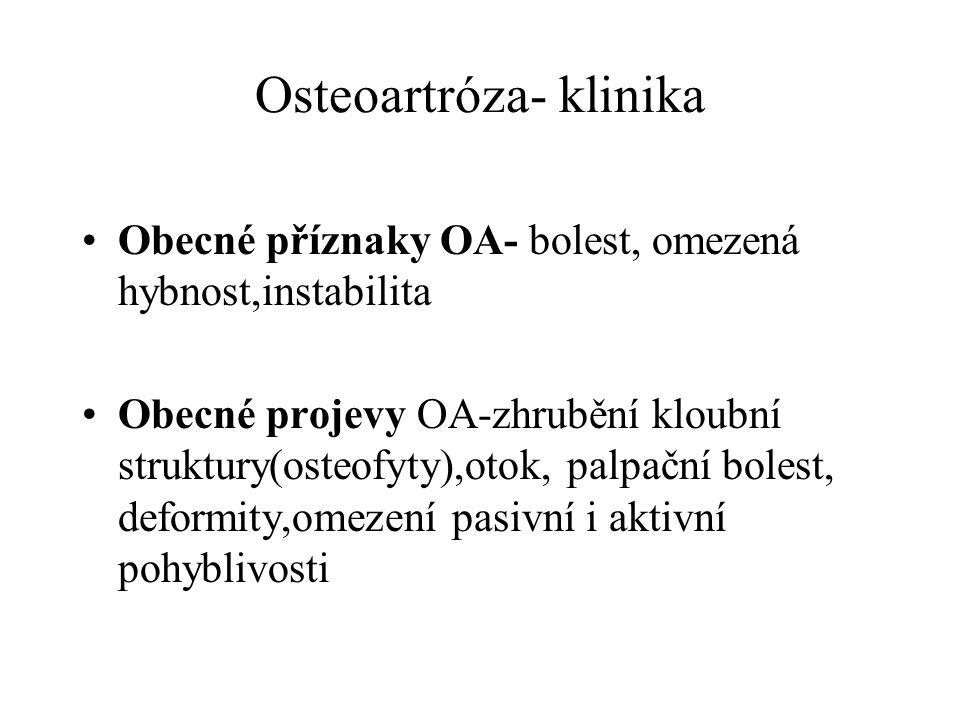 Osteoartróza- klinika