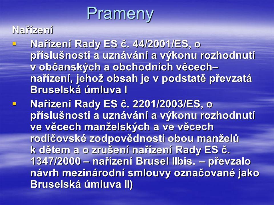 Prameny Nařízení.
