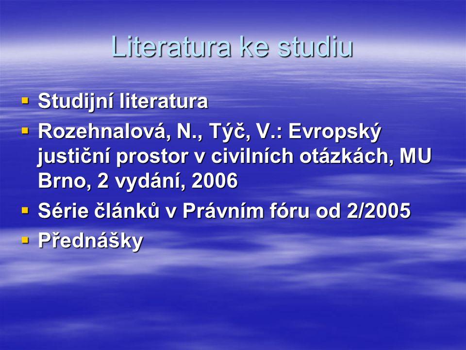 Literatura ke studiu Studijní literatura