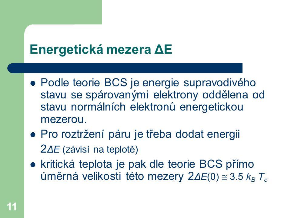 Energetická mezera ΔE