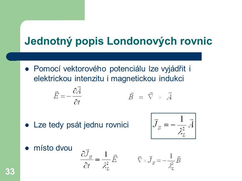 Jednotný popis Londonových rovnic