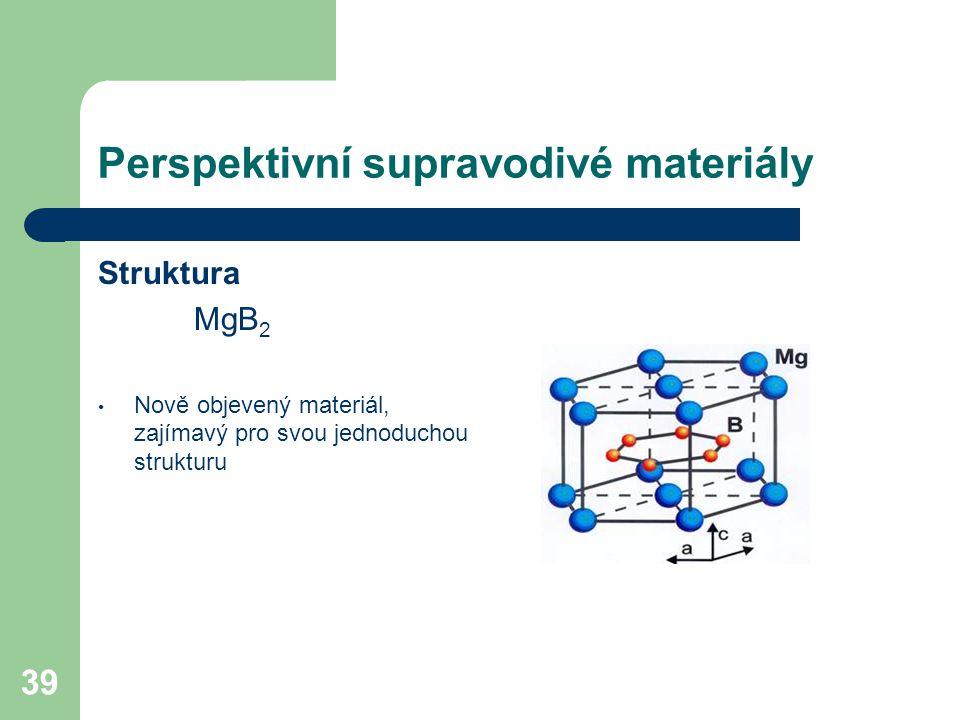 Perspektivní supravodivé materiály