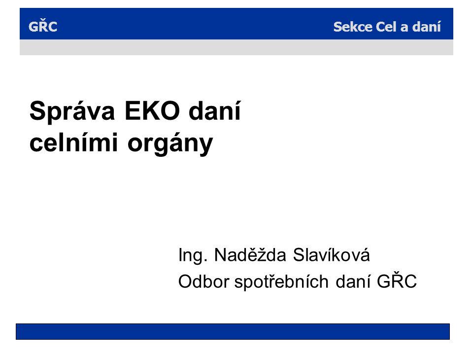 Správa EKO daní celními orgány