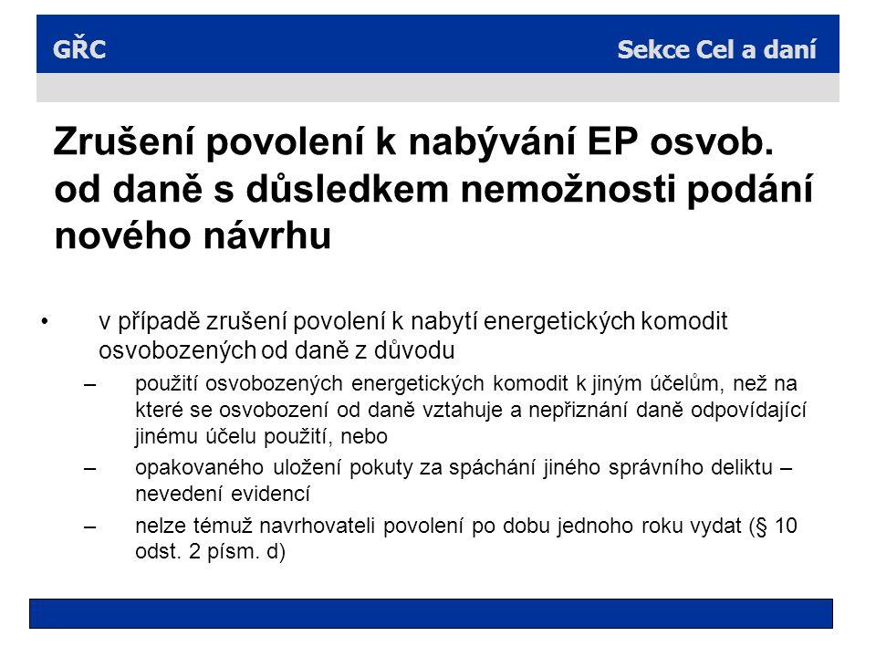 Zrušení povolení k nabývání EP osvob