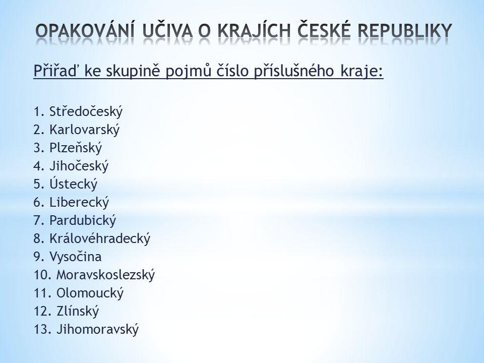 OPAKOVÁNÍ UČIVA O KRAJÍCH ČESKÉ REPUBLIKY