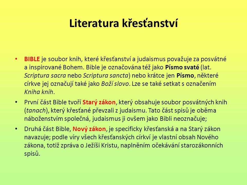 Literatura křesťanství