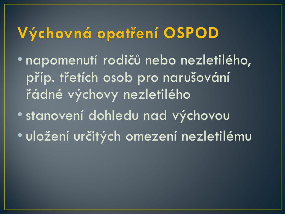 Výchovná opatření OSPOD