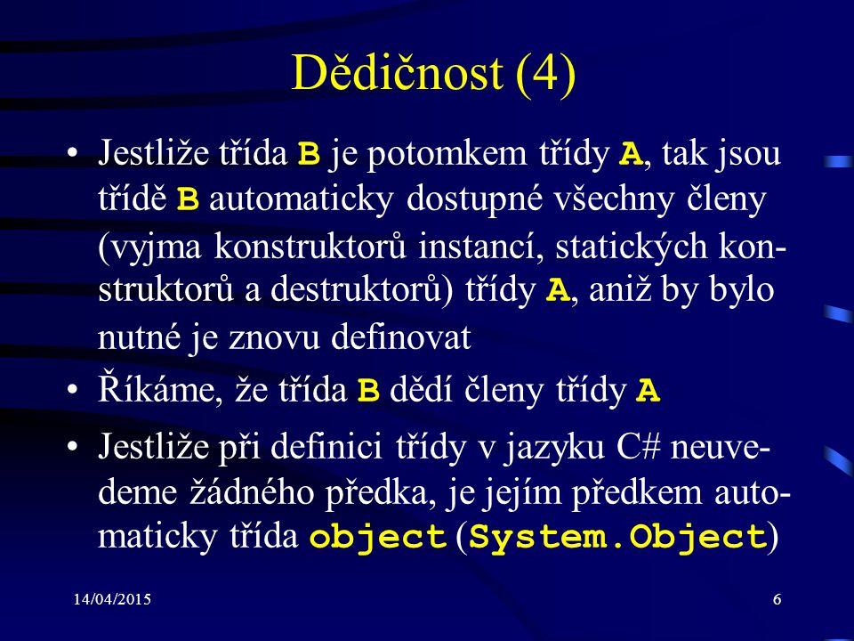 Dědičnost (4)