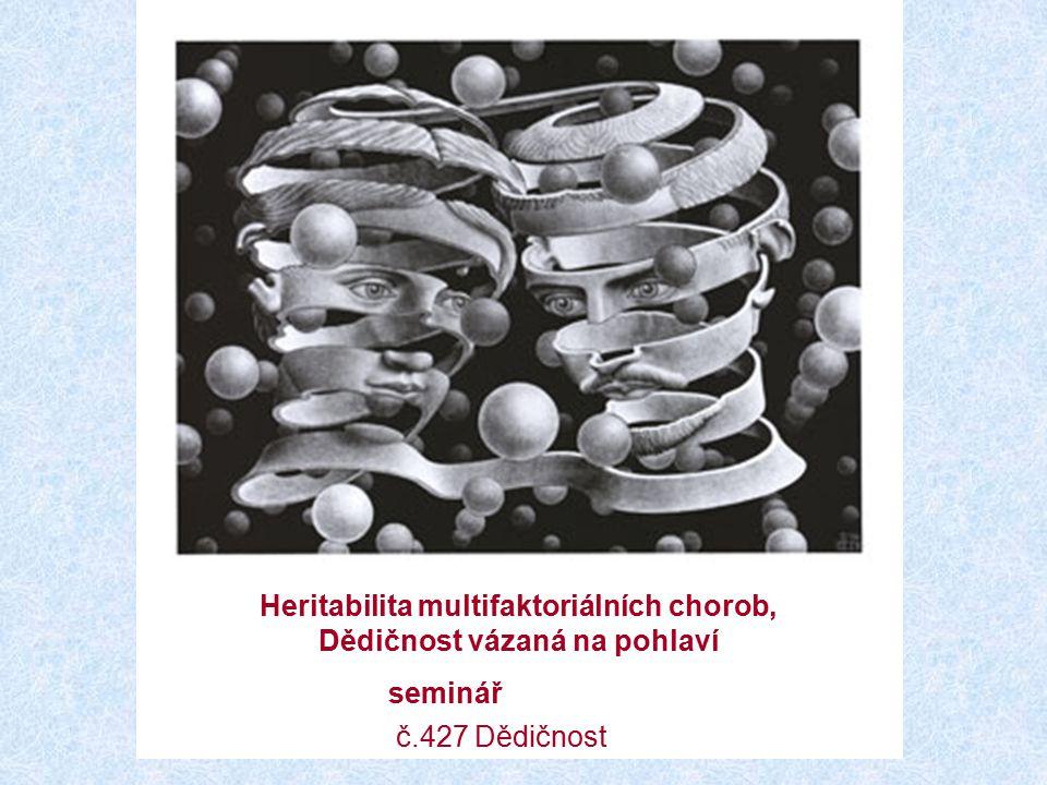 Heritabilita multifaktoriálních chorob, Dědičnost vázaná na pohlaví