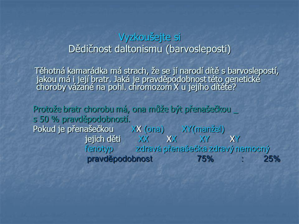 Vyzkoušejte si Dědičnost daltonismu (barvosleposti)
