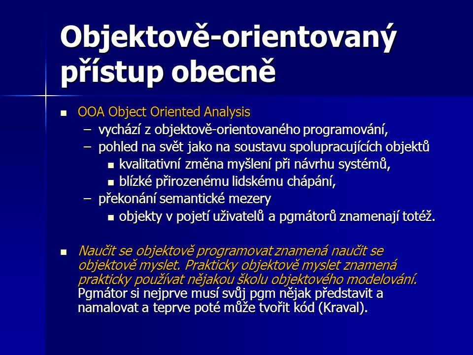 Objektově-orientovaný přístup obecně