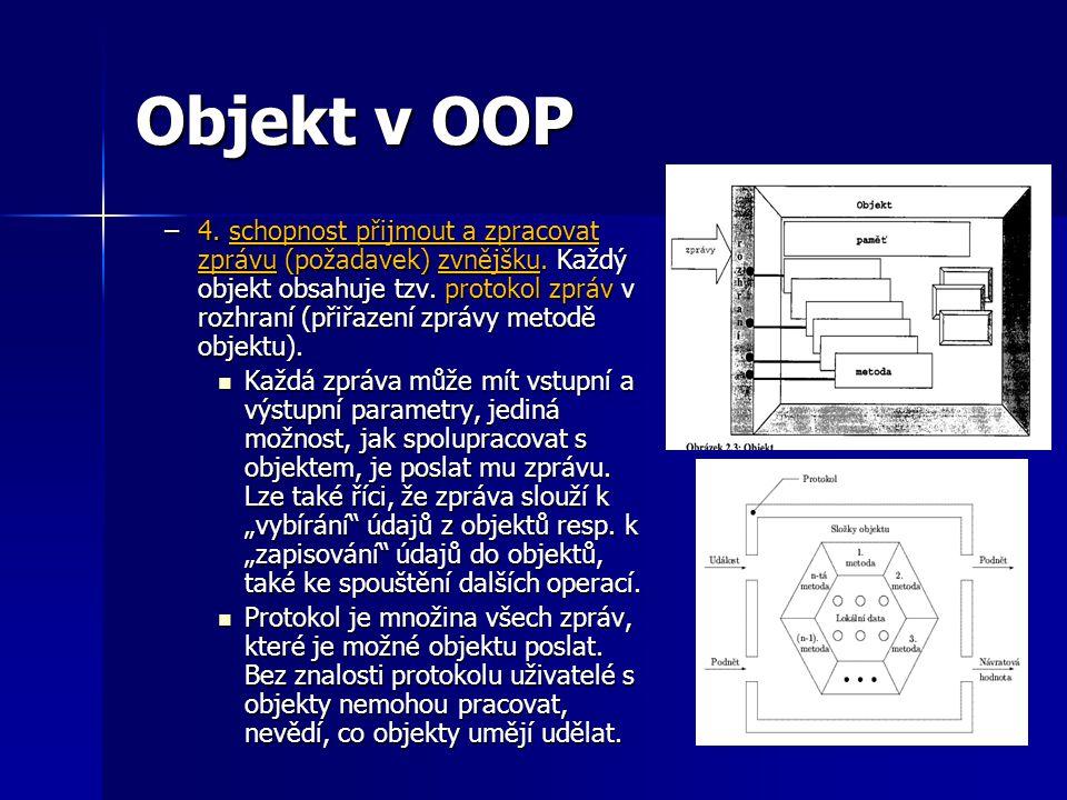 Objekt v OOP Obr. 2x obecný objekt