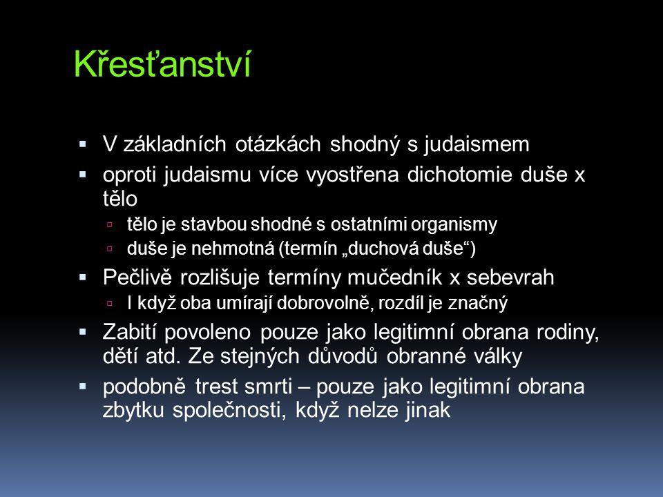 Křesťanství V základních otázkách shodný s judaismem