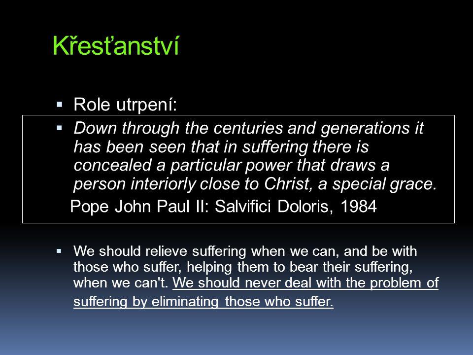 Křesťanství Role utrpení: