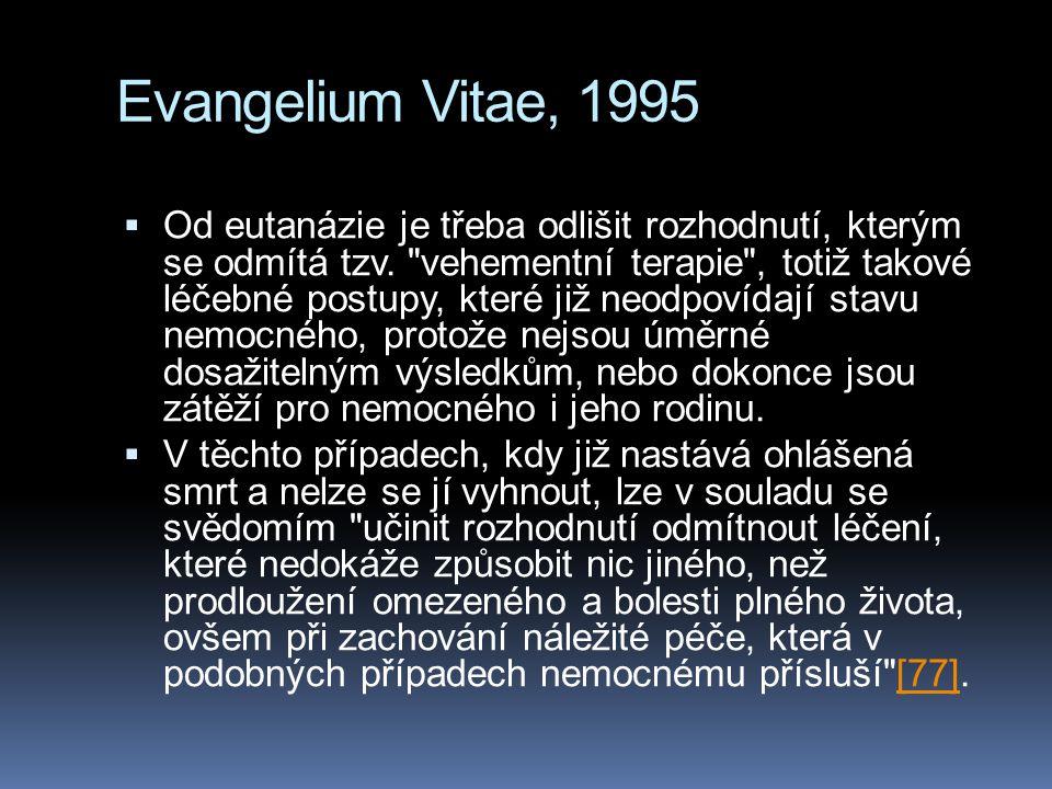 Evangelium Vitae, 1995