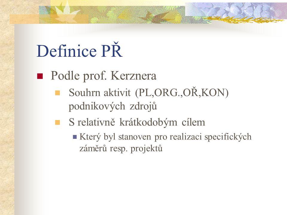Definice PŘ Podle prof. Kerznera