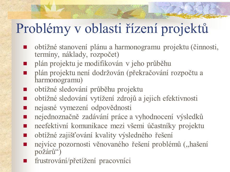 Problémy v oblasti řízení projektů