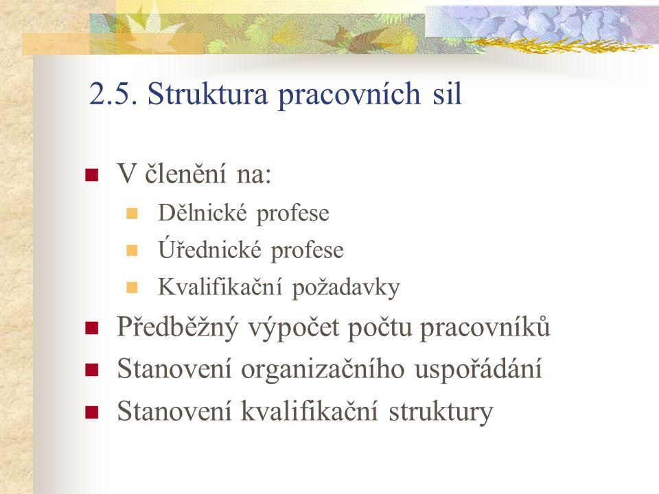 2.5. Struktura pracovních sil