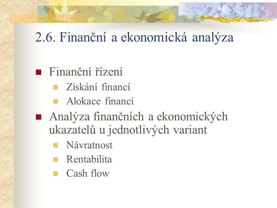 2.6. Finanční a ekonomická analýza