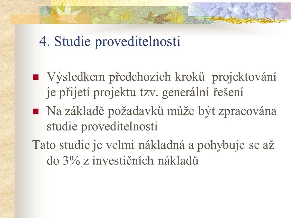 4. Studie proveditelnosti