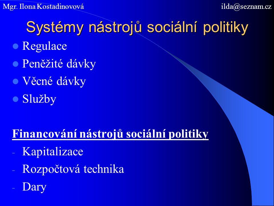 Systémy nástrojů sociální politiky