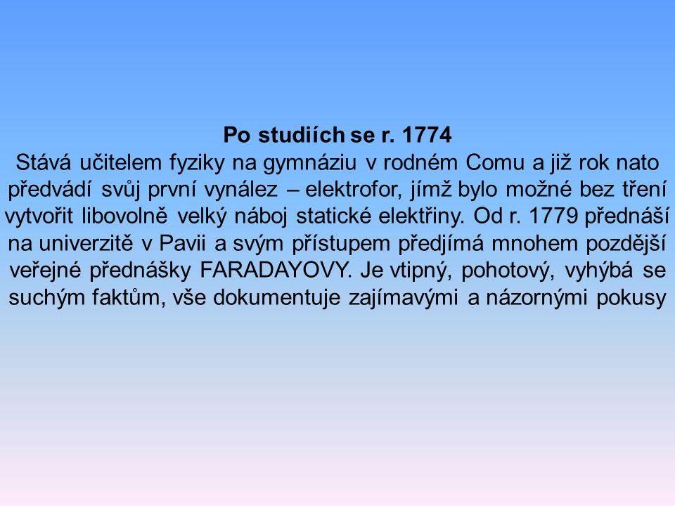 Po studiích se r. 1774