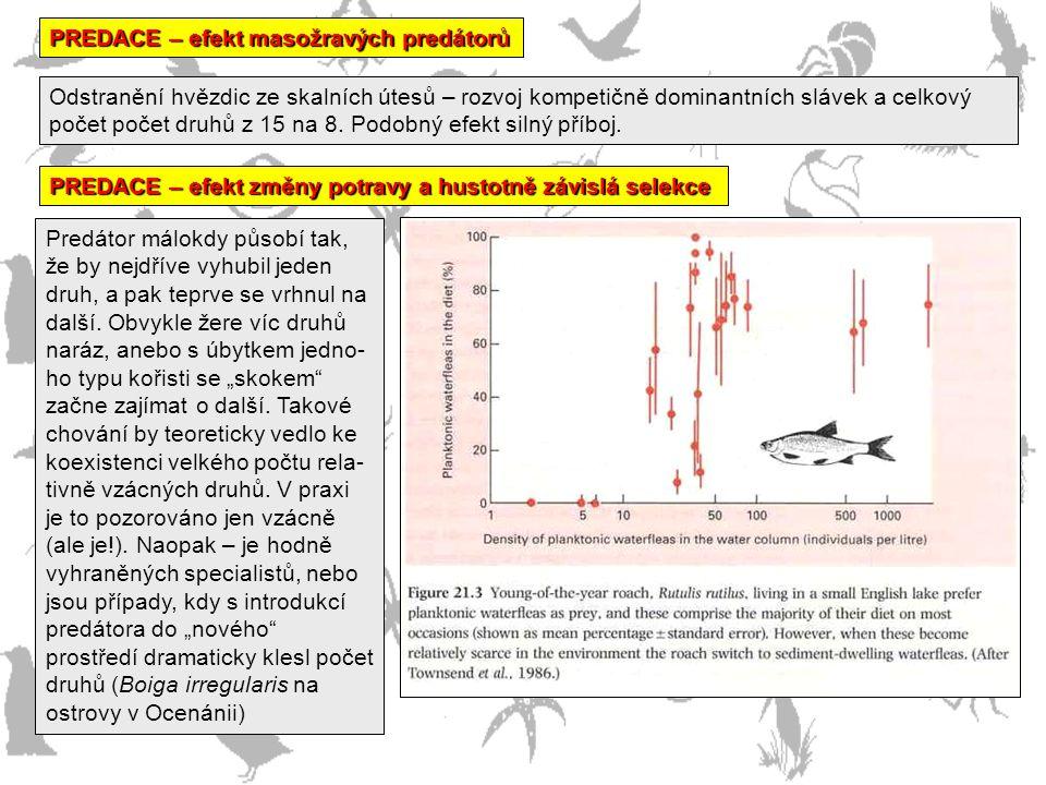 PREDACE – efekt masožravých predátorů