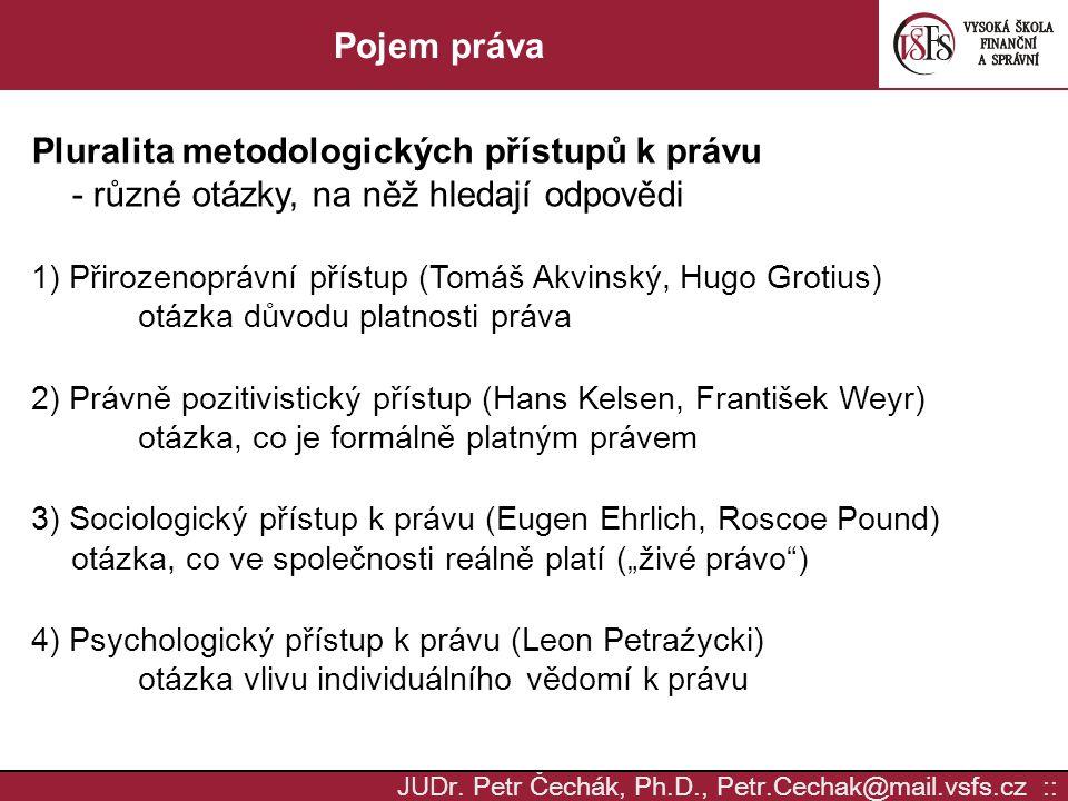 Pluralita metodologických přístupů k právu