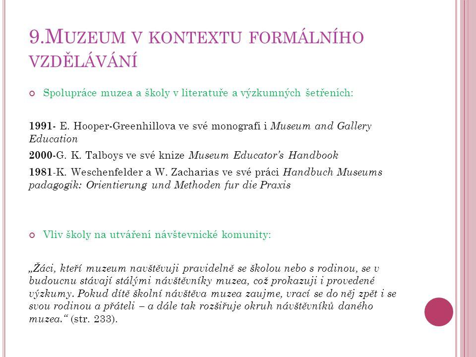 9.Muzeum v kontextu formálního vzdělávání