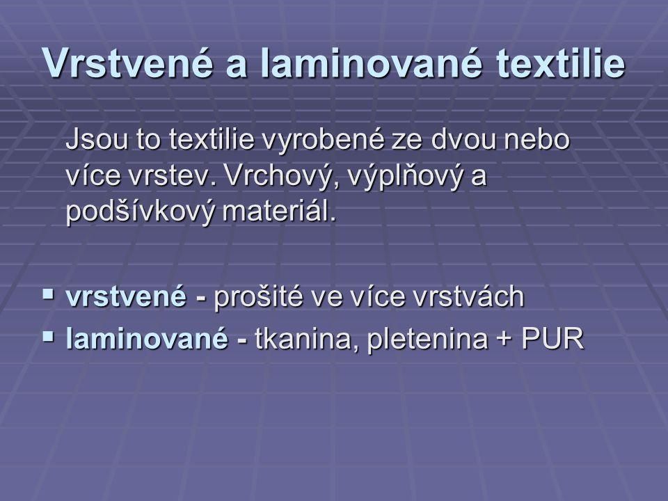 Vrstvené a laminované textilie