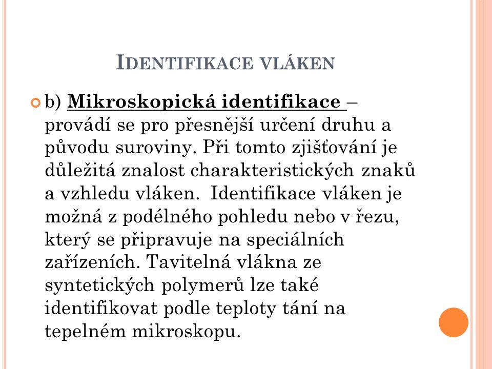 Identifikace vláken
