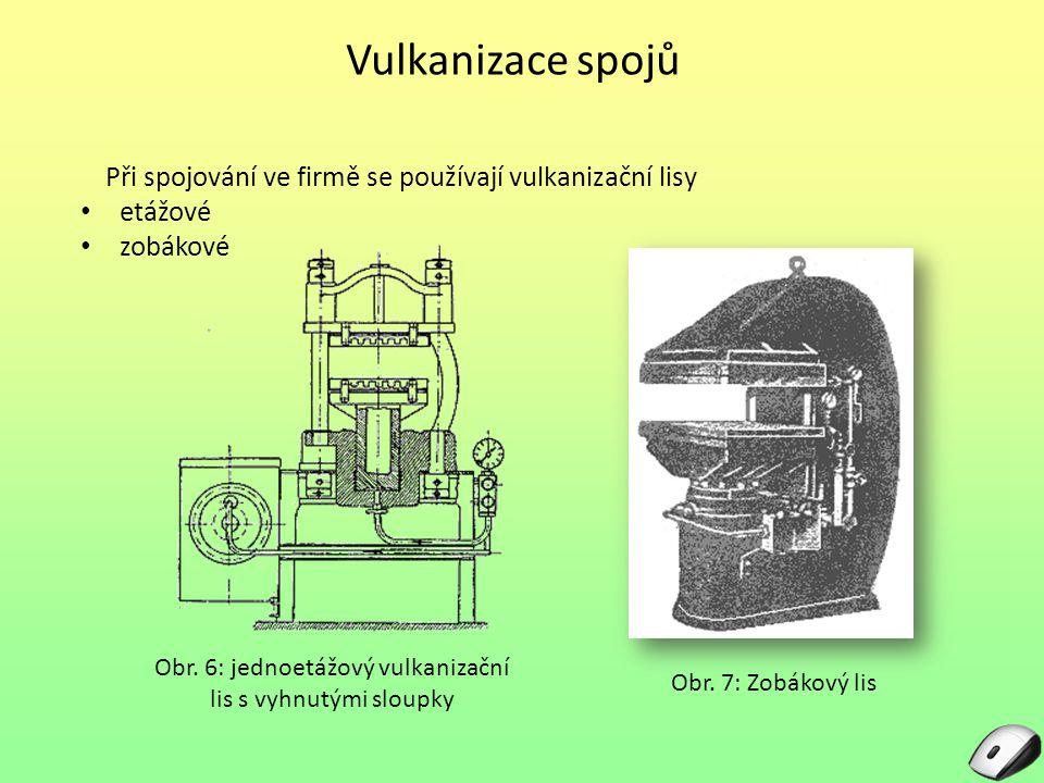 Obr. 6: jednoetážový vulkanizační lis s vyhnutými sloupky