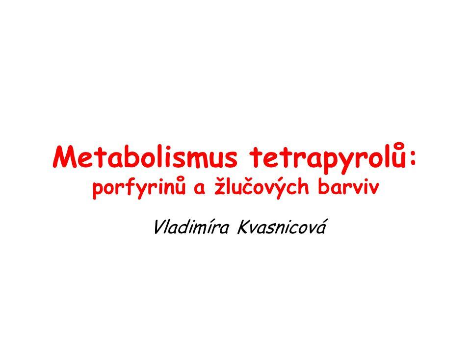 Metabolismus tetrapyrolů: porfyrinů a žlučových barviv