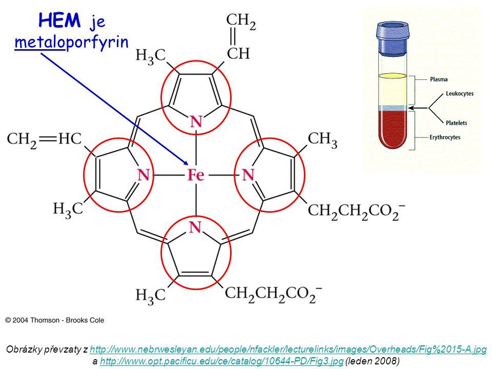 HEM je metaloporfyrin