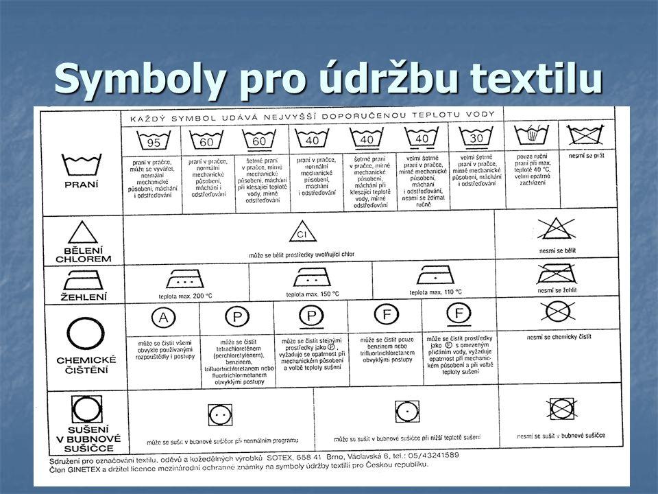Symboly pro údržbu textilu