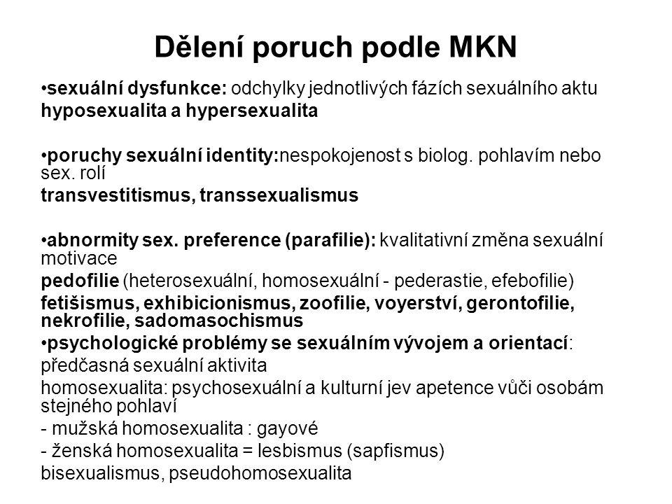Dělení poruch podle MKN