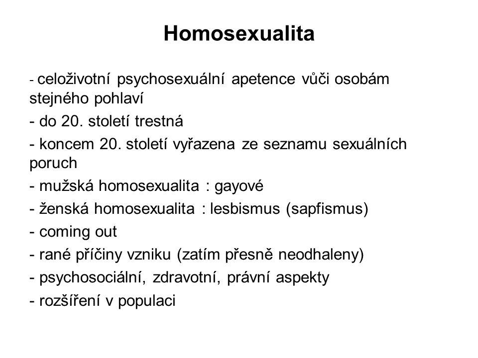 Homosexualita do 20. století trestná