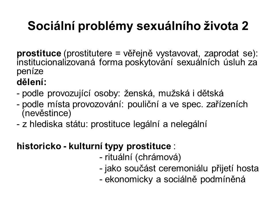 Sociální problémy sexuálního života 2