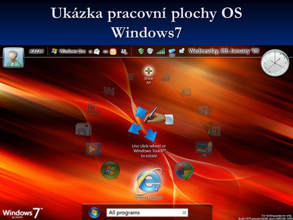 Ukázka pracovní plochy OS Windows7