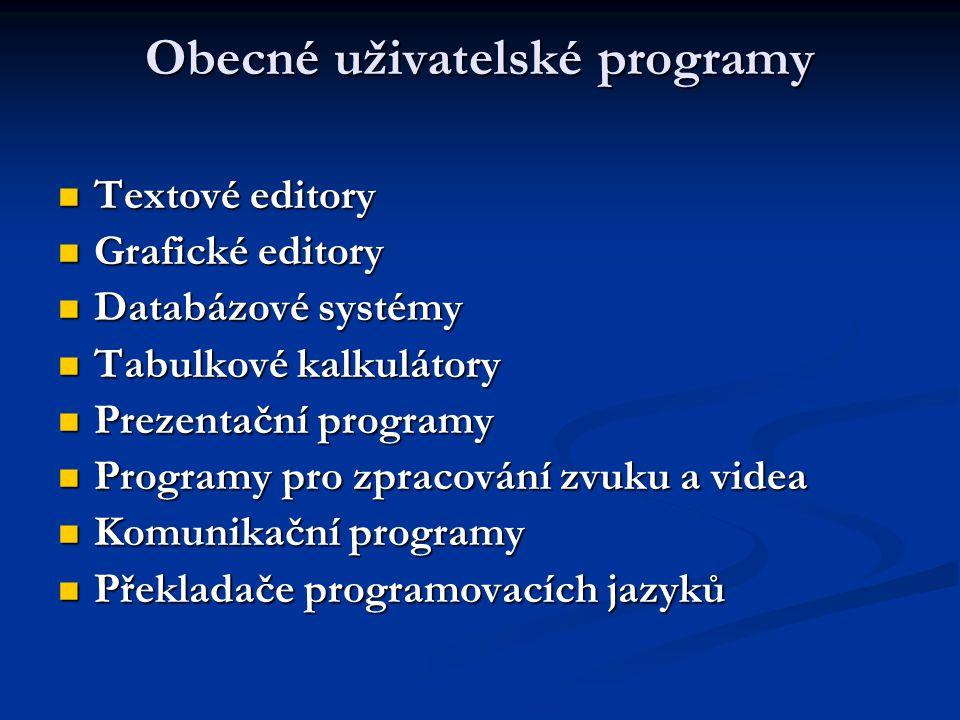 Obecné uživatelské programy