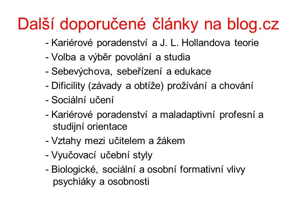 Další doporučené články na blog.cz