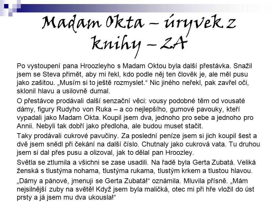 Madam Okta – úryvek z knihy – 2A