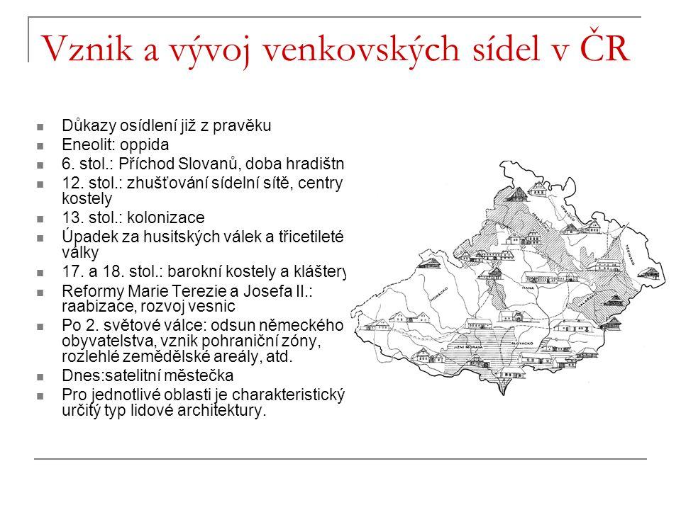 Vznik a vývoj venkovských sídel v ČR