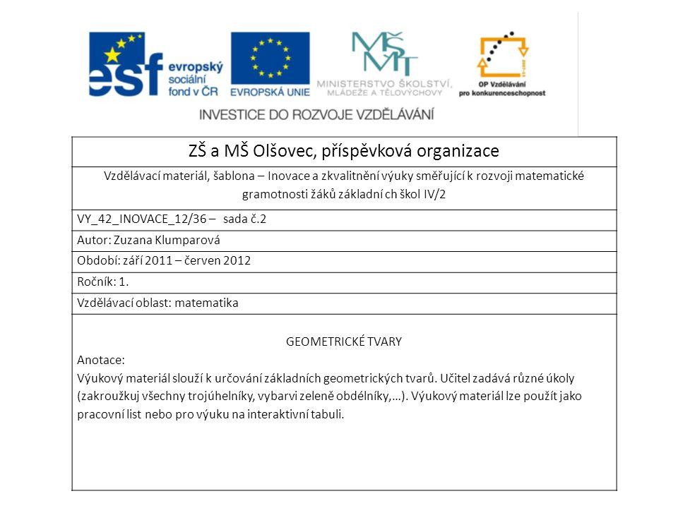 ZŠ a MŠ Olšovec, příspěvková organizace
